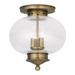 Livex Lighting Antique Brass Harbor 11.5
