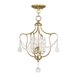 Livex Lighting Four Light Polished Brass Up Chandelier