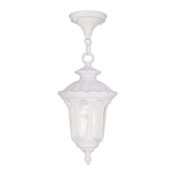 Livex Lighting One Light White Hanging Lantern