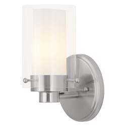 Livex Lighting Brushed Nickel 1 Light 60 Watt 5