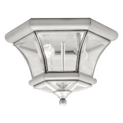 Livex Lighting Brushed Nickel Outdoor Flush Mount