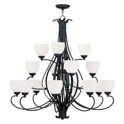 Livex Lighting Black Brookside Up Lighting 3 Tier Chandelier With 16 Lights