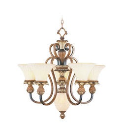 Livex Lighting Venetian Patina Savannah 5 Light 2 Tier Chandelier