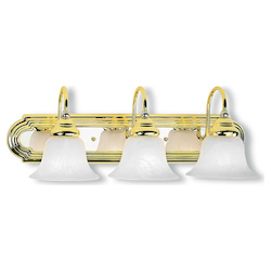 Livex Lighting Polished Brass Chrome Vanity