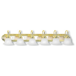Livex Lighting Polished Brass And Chrome Vanity