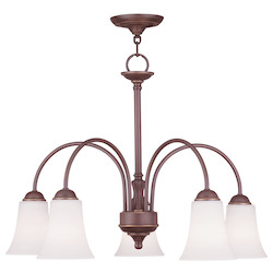 Livex Lighting Vintage Bronze Down Chandelier