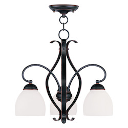 Livex Lighting Olde Bronze Down Chandelier