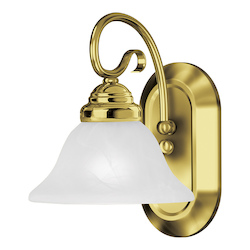 Livex Lighting One Light Polished Brass Bathroom Sconce