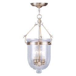 Livex Lighting Antique Brass Jefferson 3 Light Mini Pendant
