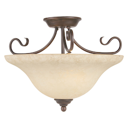 Livex Lighting Imperial Bronze Bowl Semi-Flush Mount