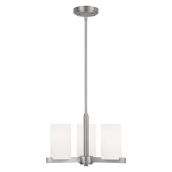 Livex Lighting Brushed Nickel Astoria Mini 1 Tier Chandelier With 3 Lights