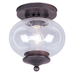 Livex Lighting Bronze Bowl Semi-Flush Mount