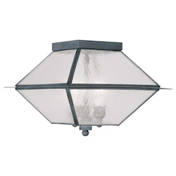 Livex Lighting Charcoal Cage Flush Mount