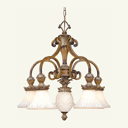 Livex Lighting Venetian Patina Down Chandelier