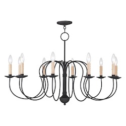 Livex Lighting Black Heritage 10 Light 1 Tier Chandelier