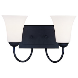Livex Lighting Black Ridgedale Bathroom Vanity Bar With 2 Lights