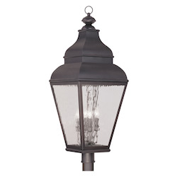 Livex Lighting Charcoal Post Light