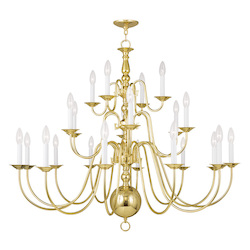 Livex Lighting Twenty Two Light Polished Brass Up Chandelier