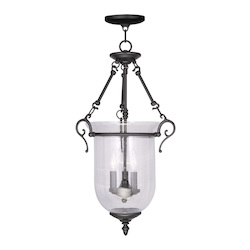 Livex Lighting Three Light Black Foyer Hall Pendant