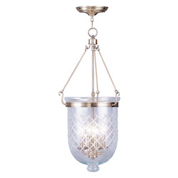 Livex Lighting Antique Brass Jefferson 4 Light Pendant