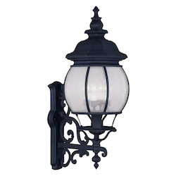 Livex Lighting Black Frontenac 30 Inch Tall Outdoor Wall Sconce With 4 Lights
