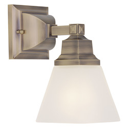 Livex Lighting Antique Brass Mission 1 Light Wall Sconce