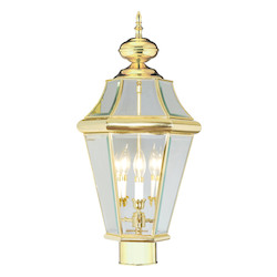 Livex Lighting Polished Brass Post Light