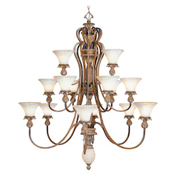 Livex Lighting Venetian Patina Up Chandelier