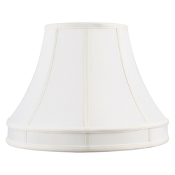 Livex Lighting White Shantung Silk Shade Lampshade With White Shantung Silk Shade