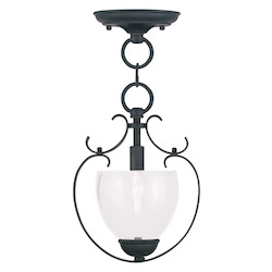 Livex Lighting Black Brookside Mini Pendant With 1 Light
