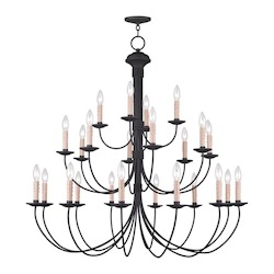 Livex Lighting Black Heritage 24 Light 3 Tier Chandelier