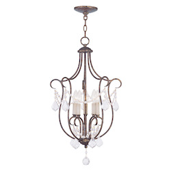 Livex Lighting Venetian Golden Bronze Open Frame Foyer Hall Fixture