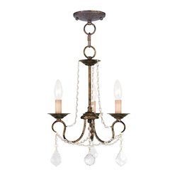 Livex Lighting Three Light Venetian Golden Bronze Up Chandelier