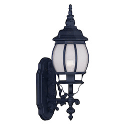 Livex Lighting Black Frontenac 21 Inch Tall Outdoor Wall Sconce With 1 Light
