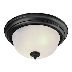 Livex Lighting Black Bowl Flush Mount