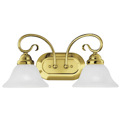 Livex Lighting Two Light Polished Brass Vanity