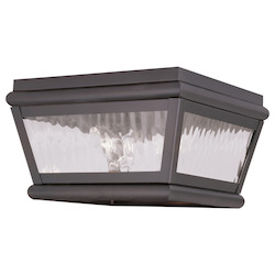 Livex Lighting Bronze Outdoor Flush Mount