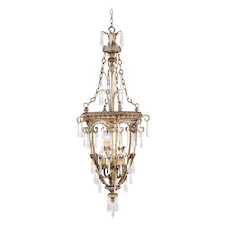 Livex Lighting Vintage Gold Leaf Foyer Hall Pendant