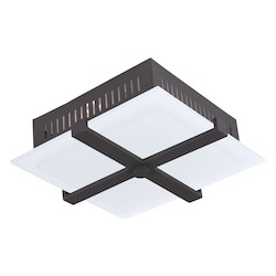 Livex Lighting Bronze Odyssey 3 Light Semi-Flush Ceiling Fixture
