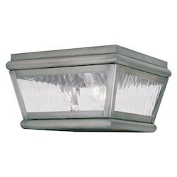 Livex Lighting Vintage Pewter Outdoor Flush Mount