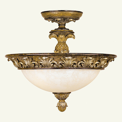 Livex Lighting Venetian Patina Bowl Semi-Flush Mount