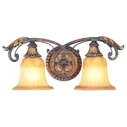 Livex Lighting Verona Bronze With Aged Gold Leaf Accents Vanity