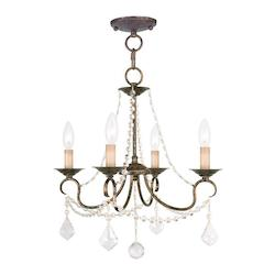 Livex Lighting Four Light Venetian Golden Bronze Up Chandelier