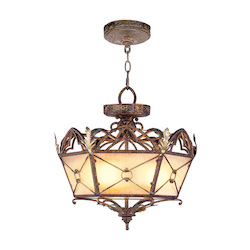 Livex Lighting Palacial Bronze With Gilded Accents Up Pendant