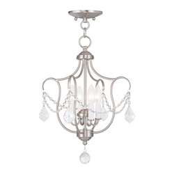 Livex Lighting Four Light Brushed Nickel Up Chandelier