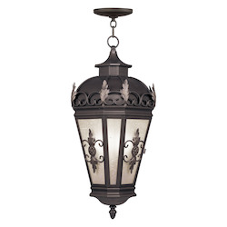 Livex Lighting Bronze Berkshire 3 Light Outdoor Pendant