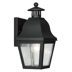 Livex Lighting Black Amwell Medium Outdoor Wall Sconce With 1 Light