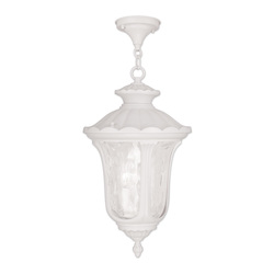 Livex Lighting Three Light White Hanging Lantern