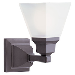 Livex Lighting Bronze Bathroom Sconce