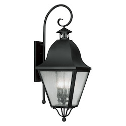 Livex Lighting Black Amwell Large Outdoor Wall Sconce With 4 Lights